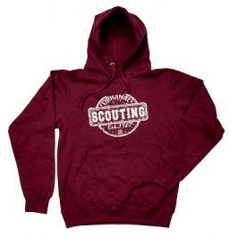 Scouting-Original-hoodie-burgundy