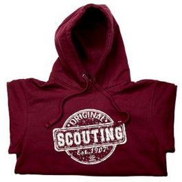 Scouting-Original-dameshoodie-burgundy