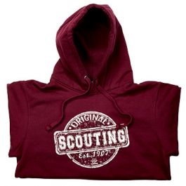 Scouting-Original-kinderhoodie-burgundy