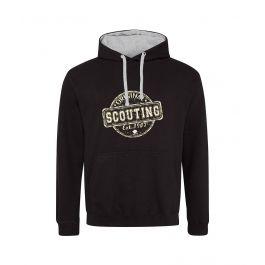 Scouting-Original-hoodie-zwart-heather-grey