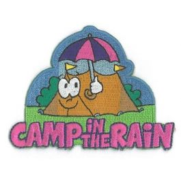 Funbadge-Camp-in-the-Rain