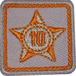 Lustrumteken-badge-oranje-10-jaar