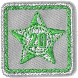 Lustrumteken-badge-lichtgroen-20-jaar