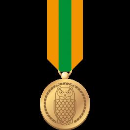 Waarderingsteken-Gouden-oehoe-(medaille-+-badge)