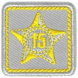 Lustrumteken-badge-geel-15-jaar
