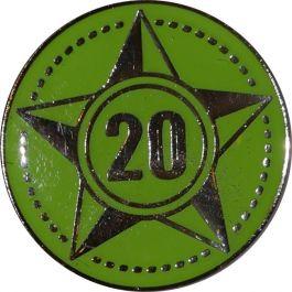 Lustrumteken-pin-lichtgroen-20-jaar