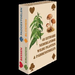 Speelkaarten:-48-Eetbare-Nederlandse-Wilde-Planten-&-Paddenstoelen