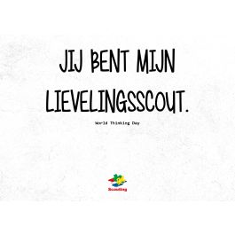 Kaart-World-Thinking-Day---Lievelingsscout-(10-stuks)