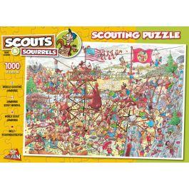 Puzzel-Scouts-&-Squirrels-World-Jamboree-1000-stukjes