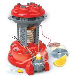 De-batterij-van-volt-en-elektriciteit