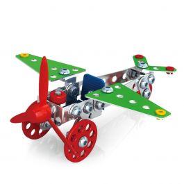 Metalen-bouwpakket-propellor-vliegtuig