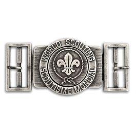 World-Scout-zilveren-riem-gesp-
