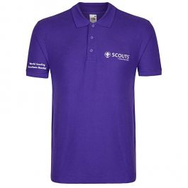 World-Scout-paarse-polo