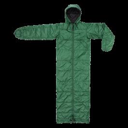 Bergstop-Wilderness-slaapzak-en-jas-in-een-Cozybag-groen/zwart