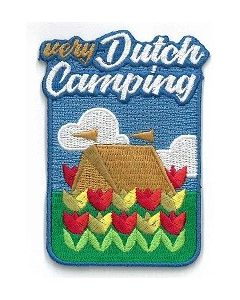 Funbadge Very Dutch camping