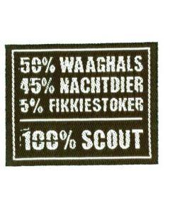 100% badge waaghals
