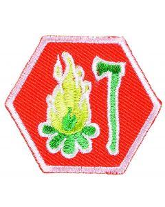 Basisinsigne Scouts UST - Houtbewerking en Stoken I (oranje)