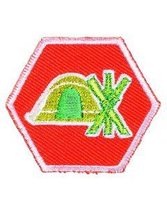 Basisinsigne Scouts UST - Kamperen en Pionieren (oranje)