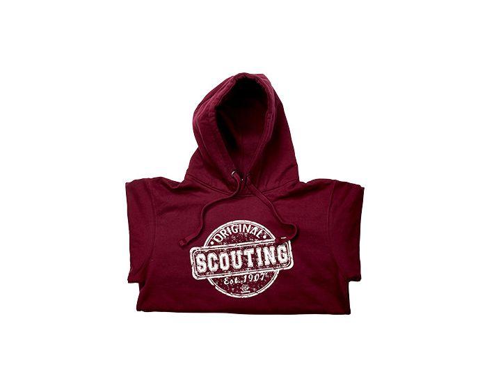 Scouting original hoodie burgundy atoll | Scouting trui